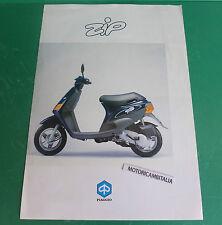 PIAGGIO ZIP 50 scooter PUBBLICITA DEPLIANT BROCHURE CATALOGUE