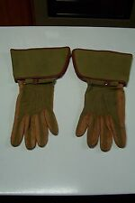 Victorian/Edwardian/Steam Punk Vintage Car Green/Leather Driving Gloves NM Cond
