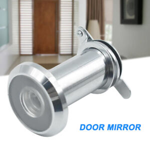 Stainless Steel Door Viewer w/Cover One Way 200° Peep Hole for Home Office New