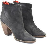 Dolce Vita Size 10 Black Nubuck Leather Zip Women's Ankle Boots