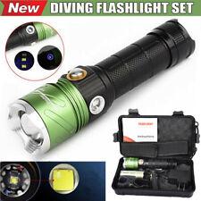 XML L2 LED Scuba Diving Underwater 500M UV Flashlight Torch Set