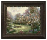 Thomas Kinkade Gardens Beyond Spring Gate 16 x 20 Brushstroke Vignette (Framed)
