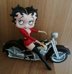 Rare Betty Boop Figurine - On Vintage Motorbike - Biker - Model-Damaged