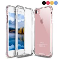 For iPhone 8 7 Case Crystal Clear Soft TPU Bumper PC Hard Back Cover Shockproof