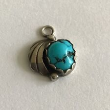 Vintage Sterling Silver Navajo Turquoise Charm