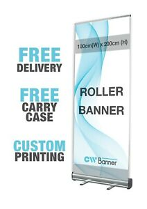Printed Roller Banner 100cm x 200cm - Pop/Roll/Pull up Exhibition Display Stand