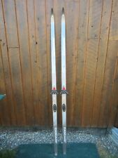 """Ready to Use Cross Country 73"""" Long JARVINEN 190 cm Skis with 2 Pin Bindings"""