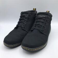 Dr Martens Maleke Black Canvas Shoes Mens Sz US 11 Hi-Top Chukka Sneakers