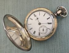 Antique A.W.Co. Waltham Sterling Silver Pocket Watch