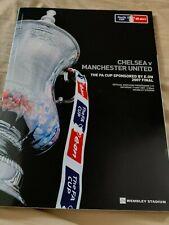 Man Utd Chelsea FA Cup Final Signed Programme Full Squad Ronaldo Ferguson Evra