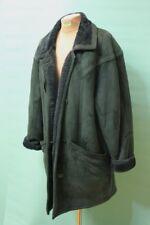 Wunderschöner Lamm Fell Mantel echt grün Gr 44/XL Damen shearling Leder Jacke