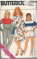 3435 Vintage Butterick Sewing Pattern Girls Top Skirt Pants Shorts Bag Easy OOP