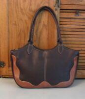 Lavive PURSE Quality Brown Leather Handbag Over Shoulder Satchel BAG Pocketbook