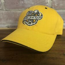 Vtg MLS Cup 2001 Soccer Hat Cap Adjustable Yellow Columbus