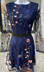Brand New Chiffon Floral Dress Size M (size 10)