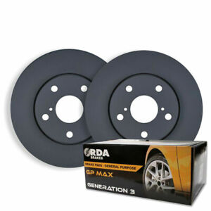 RDA FRONT DISC BRAKE ROTORS + PADS for Toyota Corolla AE112R 1.8L 8/1998-6/2002