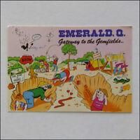 Emerald CQ Gateway to the Gemfields Murray Views MV 1994 Postcard (P358)