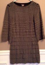 Muse Women's Size 6 Gray Layer Dress
