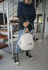 Authentic VERSACE White Leather Backpack