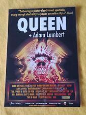 QUEEN + ADAM LAMBERT - 2018 AUSTRALIA Tour - SIGNED AUTOGRAPHED Tour Poster
