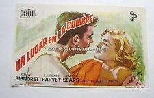 PROGRAMA DE CINE 1964 UN LUGAR EN LA CUMBRE ROOM AT THE TOP SIMONE SIGNORET JANO