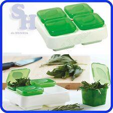 SNIPS CONTENITORE BOX 4 VANI CONGELA AROMI IN PLASTICA PER MICROONDE CONGELATORE