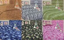 Children Kids Curtains ANIMAL / ARMY  ZEBRA PRINT Duvet Cover Sets or Curtain