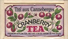 Cranberry Tea - 25 Bags - Decorative Wooden Box