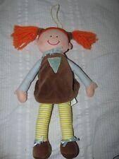 "FICKLED FELICITY Doll Toy Orange Hair Brown Dress Soft Plush 5"" 1997"