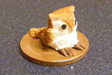 1 12 Scale Small Polymer Clay Brown Owl Dolls House Garden Accessory Bird B