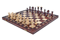 STUNNING SENATOR WOODEN CHESS SET - Hand crafted board and pieces - Great gift