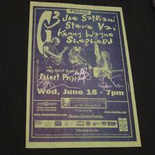 Joe Satriani, Steve Vai, Kenny Wayne Shepherd – Signed G3 11x17 Poster