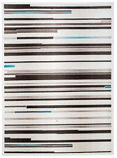 Teppich Kurzflor Hochwertig Muster Creme Beige Braun 80 120 140 160 200 T1
