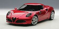 Autoart ALFA ROMEO 4C RED Composite Model 1:18*New Item!