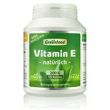 Greenfood Vitamin E, natürlich, 200 iE, 120 Kapseln - vegan