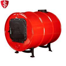 Barrel Stove Kit Cast Iron Convert 30-55 Gallon Steel Drum Wood Burning Heater