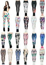 Kukubird Hot Various Print Leggings Tiger/Cat/Rose/Muffins/Emoji/Galaxy Free UK
