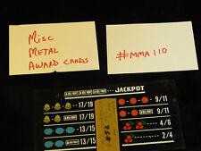 DAMAGED ANTIQUE SLOT MACHINE REPRO MISC MIXED METAL AWARD CARD #MMA110