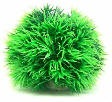 2 Pack - New Green Artificial Plastic Aquarium Bush Ball Plant For Fish Tank