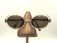 ad2a2f5f31 Vintage Anne Klein II 7005 K5036 Transparent Black Oval Sunglasses Frames  Italy