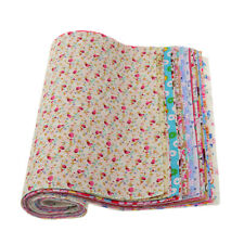 30Pcs Cotton Fabric Squares Quilting Sewing Floral Precut Fabric Square Sheets
