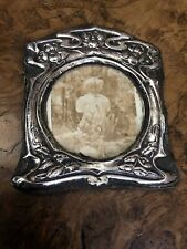 More details for antique sterling silver art nouveau photo photograph frame