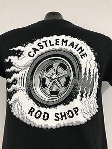 CASTLEMAINE ROD SHOP WHEEL SHIRT