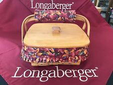 Longaberger 1997 Shades of Autumn Bountiful Harvest Bskt, Lid, w/hdl.gripper-lot