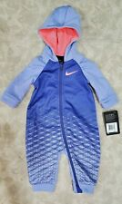 Infant Girls 6m Nike Therma One Piece outerwear Rush Violet Suit Nwt