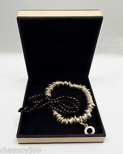 Links of London Sterling Silver Round Loops Stretch Cord Sweetie Bracelet, MIB