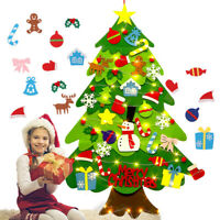 Kids DIY Felt Christmas Tree with Ornaments Xmas Gift Wall Hanging Xmas Decor