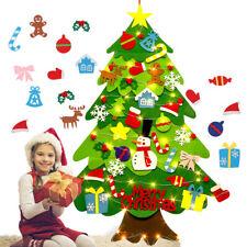 Kids DIY Felt Christmas Tree with Ornaments Xmas Gift Wall Hanging Xmas Decor