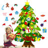 Kid DIY Felt Christmas Tree with Ornaments Decor for Kids Children Xmas DIY Gift