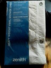 "Zenna H28F Beige Hd Vinyl 70""x 72"" Magnetic Hem Shower Curtain Liner"